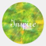 coloree el verde inconsútil del fondo, amarillo pegatinas redondas
