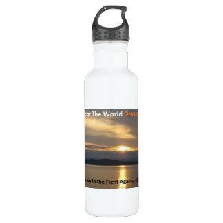 Coloree la botella de agua del naranja del mundo