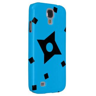 Coloree la caja azul de la galaxia S4 de Ninja Carcasa Para Galaxy S4