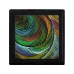Coloree la caja de regalo del arte abstracto de la