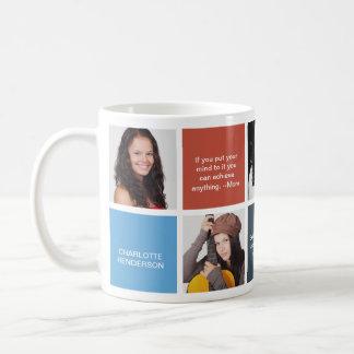 Coloree la foto personal del personalizado del taza de café