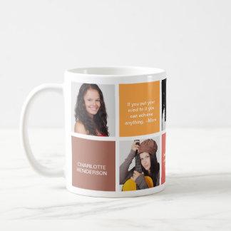 Coloree la foto personal marrón del personalizado taza