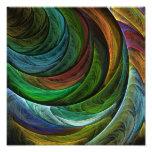 Coloree la impresión de la foto del arte abstracto