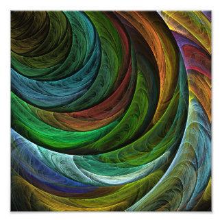 Coloree la impresión de la foto del arte abstracto cojinete