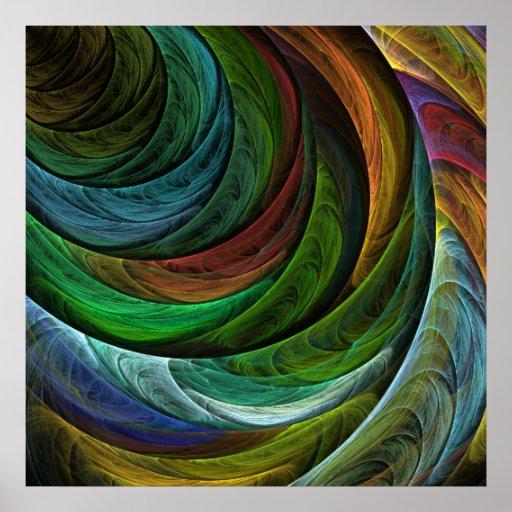 Coloree la impresión del arte abstracto de la glor poster
