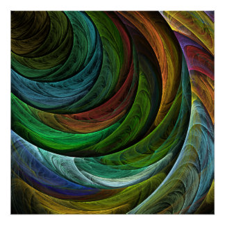 Coloree la impresión del arte abstracto de la póster