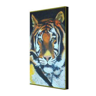 COLOREE la lona envuelta premio del TIGRE (lustre) Impresión En Lienzo