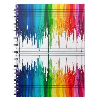 Coloree la música o la música el color libros de apuntes