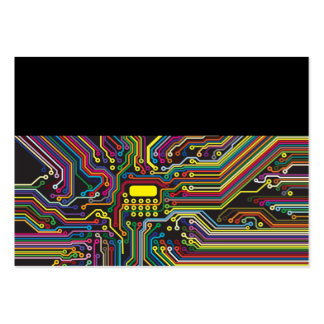 Coloree la plantilla electrónica de la placa de ci plantilla de tarjeta de visita