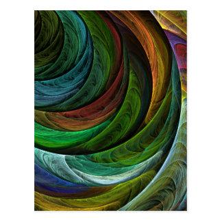 Coloree la postal del arte abstracto de la gloria