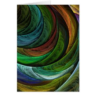 Coloree la tarjeta de felicitación del arte abstra