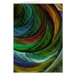 Coloree la tarjeta de nota del arte abstracto de l