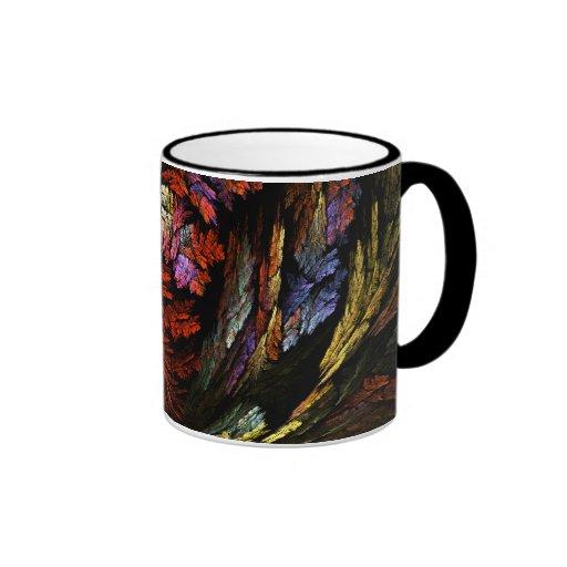 Coloree la taza de café abstracta de la armonía