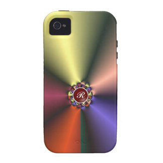 Coloree la tela de seda con ambiente del iPhone 4/ Vibe iPhone 4 Fundas