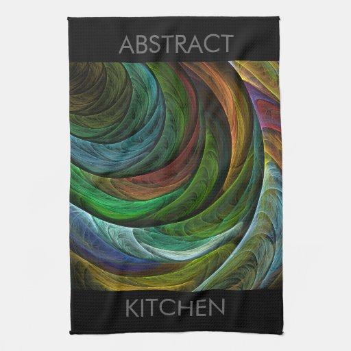 Coloree la toalla de cocina del arte abstracto de
