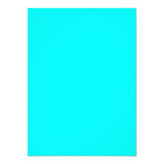 """Coloree la turquesa adaptante visual de las invitación 5.5"""" x 7.5"""""""