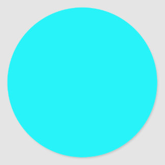 Coloree la turquesa adaptante visual de las pegatina redonda