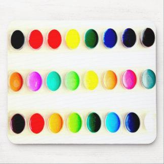 Coloree las acuarelas Mousepad del mundo Tapetes De Ratones