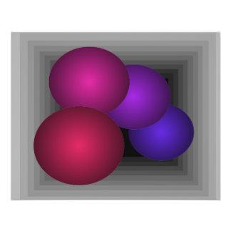 """Coloree las esferas del infinito de la ilusión ópt folleto 4.5"""" x 5.6"""""""