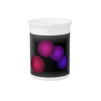 Coloree las esferas del infinito de la ilusión ópt jarra