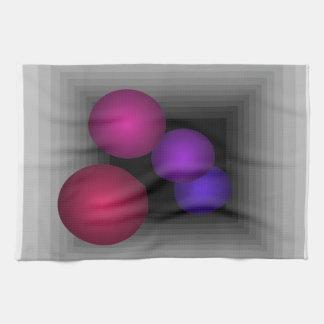 Coloree las esferas del infinito de la ilusión ópt toalla