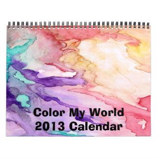 Coloree mi calendario del mundo 2015