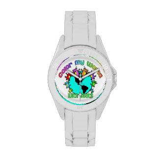 Coloree mi mundo con las cabras relojes