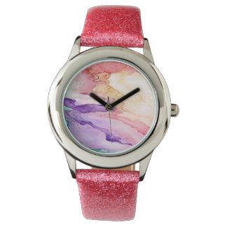 Coloree mi reloj de la correa del rosa del mundo