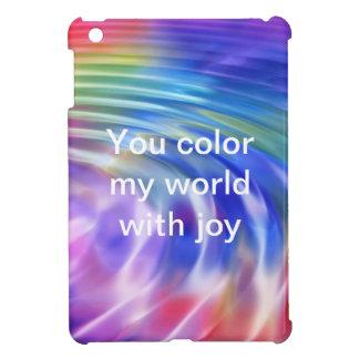 Coloree mi vida con alegría iPad mini protector