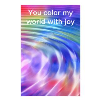 Coloree mi vida con alegría papeleria personalizada