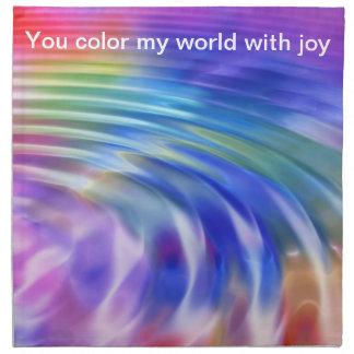 Coloree mi vida con alegría servilleta imprimida