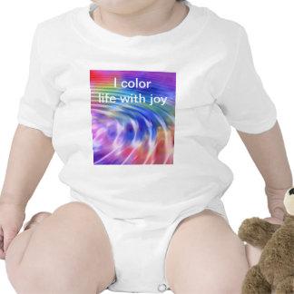 Coloree mi vida con alegría traje de bebé