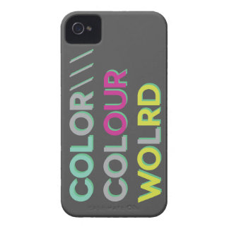 Coloree nuestro mundo iPhone 4 cárcasas