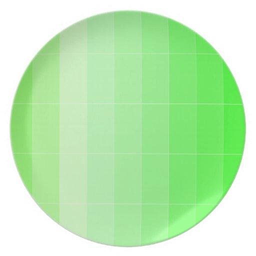 Coloree solamente Ombre de color verde amarillo am Plato De Cena