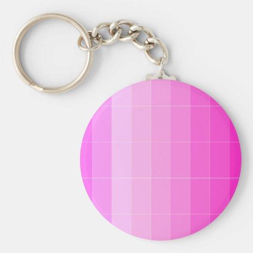 Coloree solamente Ombre rosado magenta Llaveros Personalizados
