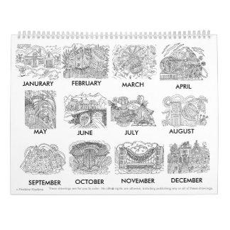 ¡Coloree su calendario extraño o hermoso! v.2