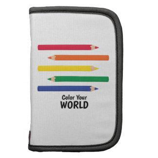 Coloree su mundo planificadores