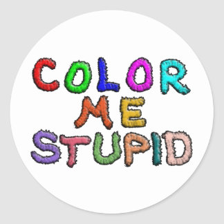 Coloréeme estúpido etiquetas redondas