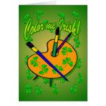Coloréeme las tarjetas de felicitación irlandesas