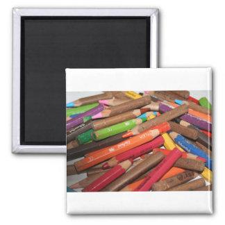 Coloréeme los productos de un arco iris imán cuadrado