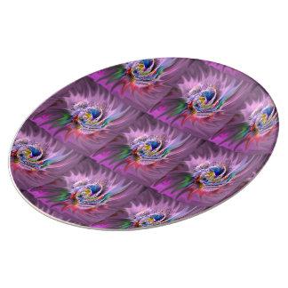 Coloréeme placa abstracta platos de cerámica