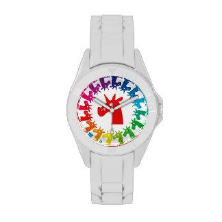 Coloréeme reloj del unicornio del arco iris