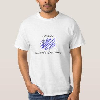 Coloreo fuera de las líneas camiseta blanca playeras