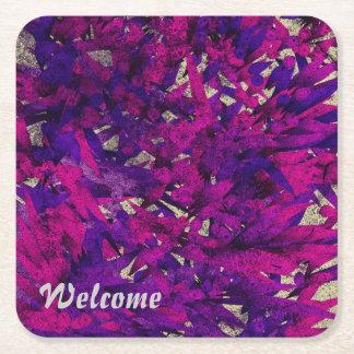 colores 01 de la magia posavasos personalizable cuadrado