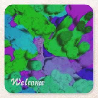 colores 02 de la magia posavasos desechable cuadrado