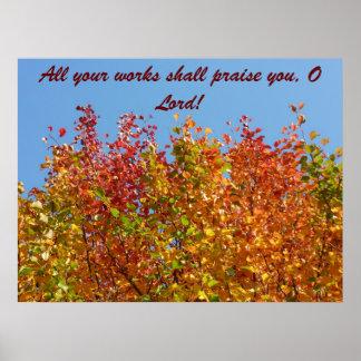 Colores 4 del otoño impresiones