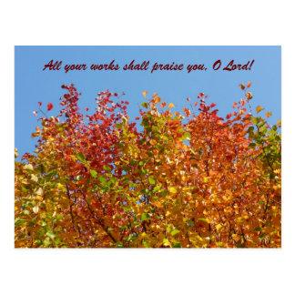 Colores 4 del otoño postal