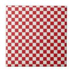 Colores a cuadros rojos y blancos del Bbq del país Azulejo Ceramica