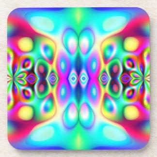 Colores abstractos asombrosos posavasos de bebida
