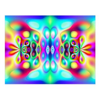 Colores abstractos asombrosos postal